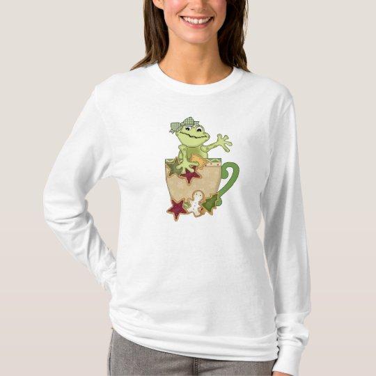 Christmas frog Mug womens t-shirt