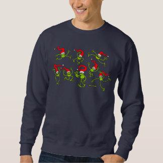 Christmas Frogs jumping, dancing and celebrating! Sweatshirt