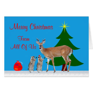 Christmas From All Of Us Greeting Card