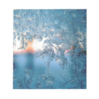 Christmas frost ice notepad