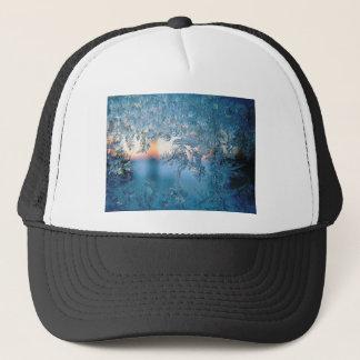 Christmas frost ice trucker hat