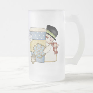 Christmas Frosted Snowman Holiday Coffee Mug