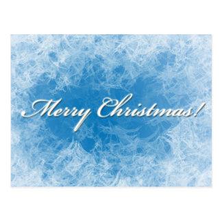 Christmas Frosty Background card Postcard