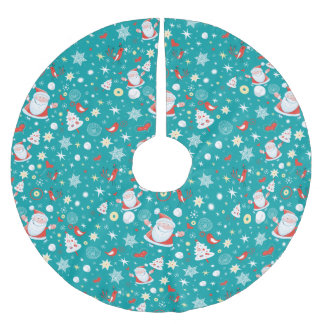 Christmas Fun Brushed Polyester Tree Skirt