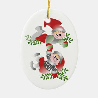 Christmas Fun Ceramic Oval Ornament