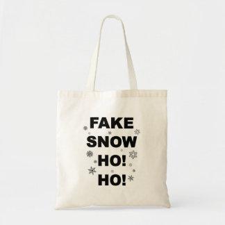 Christmas fun tote: Fake Snow Ho! Ho! Tote Bag