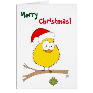 Christmas: Funny Bird (yellow) Card