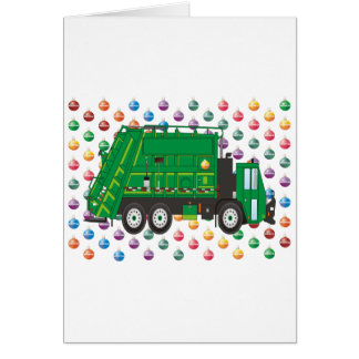Christmas Garbage Truck December Card