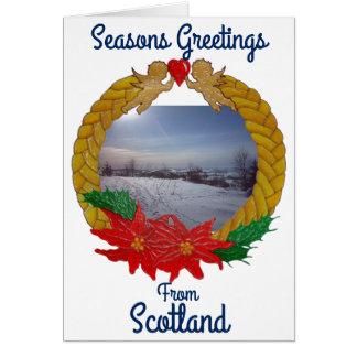 Christmas Garland Custom Greetings card