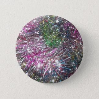 Christmas Garland Sparkle 2 Inch Round Button
