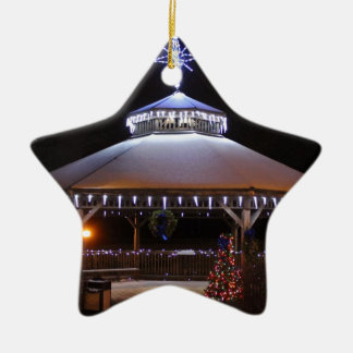 Christmas Gazebo Ceramic Ornament