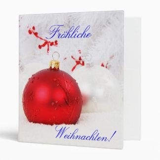 Christmas German Frohliche Weihnachten Vinyl Binders