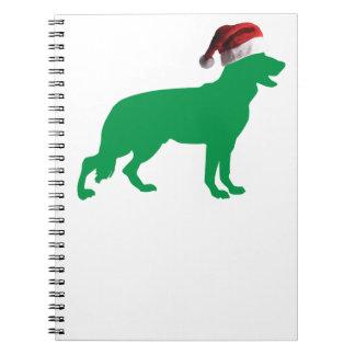 Christmas German Shepherd Note Books