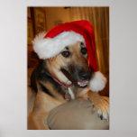 Christmas German Shepherd Print
