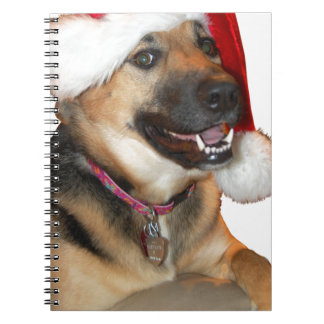 Christmas German Shepherd Spiral Note Book