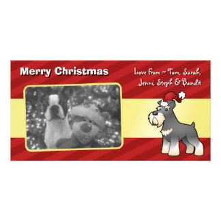 Christmas Giant/Standard/Miniature Schnauzer Card