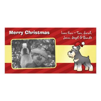 Christmas Giant/Standard/Miniature Schnauzer Customized Photo Card