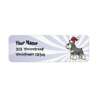 Christmas Giant/Standard/Miniature Schnauzer Return Address Label