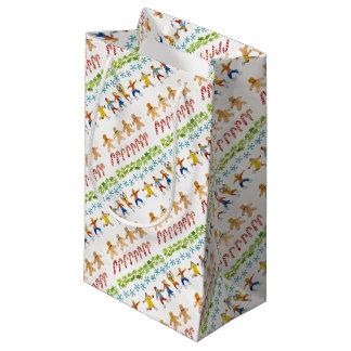 Christmas gift bag art for charity