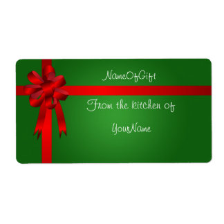Christmas Gift Canning Label Shipping Label