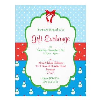 Christmas Gift Exchange Invitation Flyer