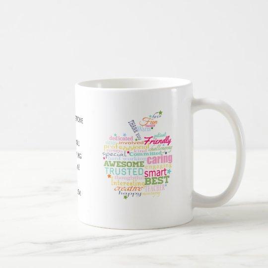 christmas gift for Teacher word art apple mug