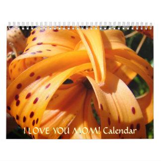 CHRISTMAS GIFT MOM Calendar I LOVE YOU MOM!