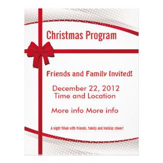 christmas program promotional flyers christmas program promotional flyer templates. Black Bedroom Furniture Sets. Home Design Ideas