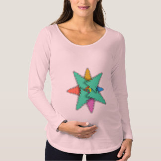 CHRISTMAS GIFT STAR by Slipperywindow Maternity T-Shirt