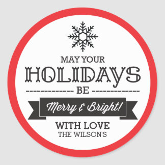 Christmas Gift Stickers / Labels