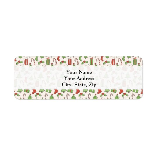 Christmas gift tag Address Label