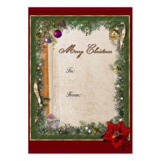 Christmas gift tag large business card