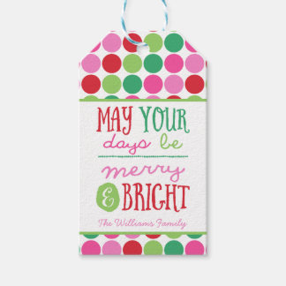 Christmas Gift Tag, May Your Days Be Merry Bright Gift Tags