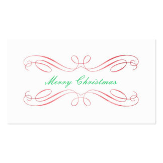 Christmas Gift Tag Pack Of Standard Business Cards