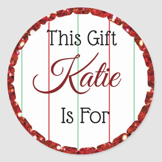 Christmas Gift Tag Personalized