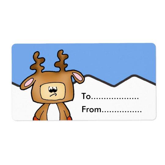 Christmas gift tag shipping label