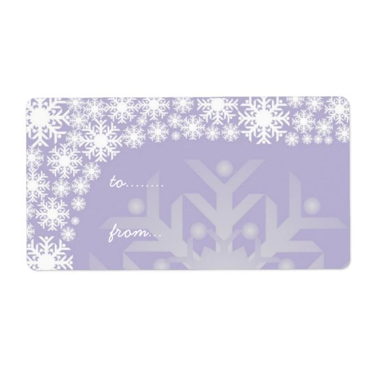 Christmas Gift Tags - Icy Purple Snowflakes