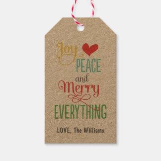 Christmas Gift Tags | Kraft Merry Everything