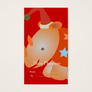 Christmas Gift tags: Rhino Business Card
