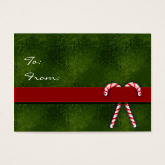 Christmas gift tags with candy canes