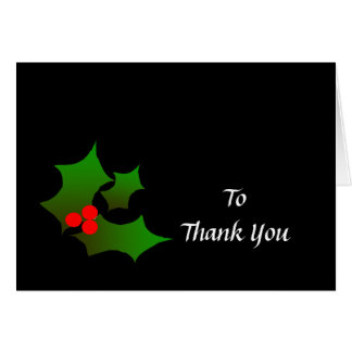 Christmas gift Thank you note Card