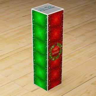 christmas gift wine box initials