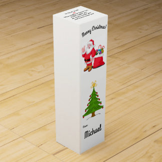 Christmas Gift Wine Box Your Name Stocking Stuffer
