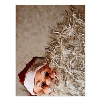 Christmas gift with Santa Claus Postcard