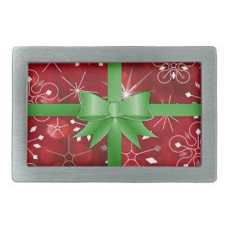 Christmas Gift Wrap Belt Buckle