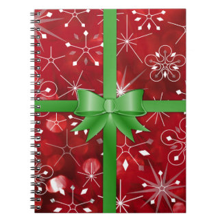 Christmas Gift Wrap Notebooks