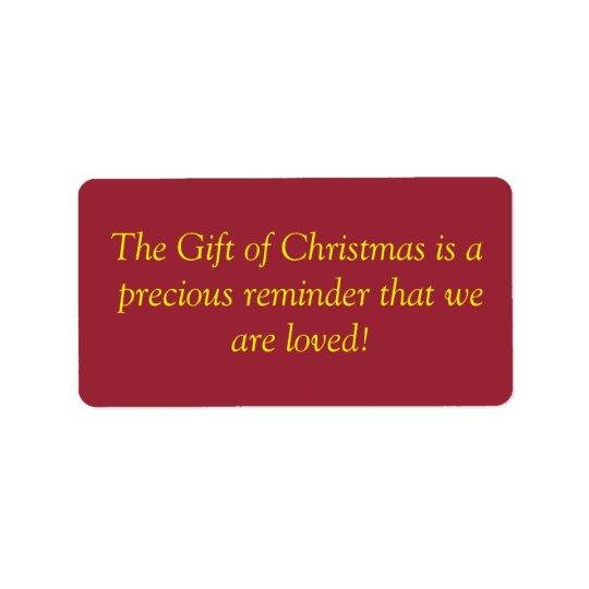 Christmas GiftLabels