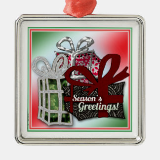 Christmas gifts design metal ornament