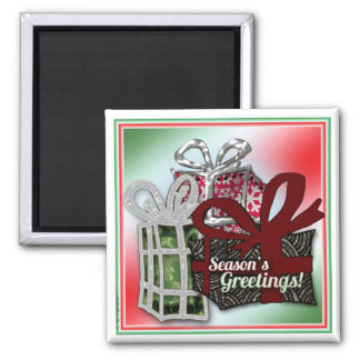 Christmas gifts design square magnet