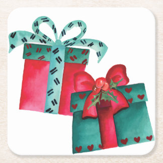 Christmas Gifts Paper Coaster